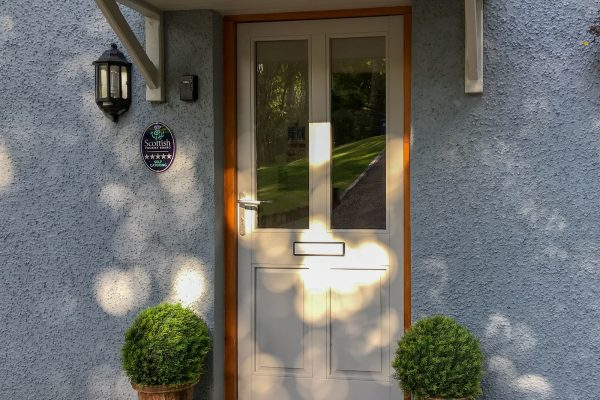 Door of Bishops Bay Cottage Luxury Self Catering